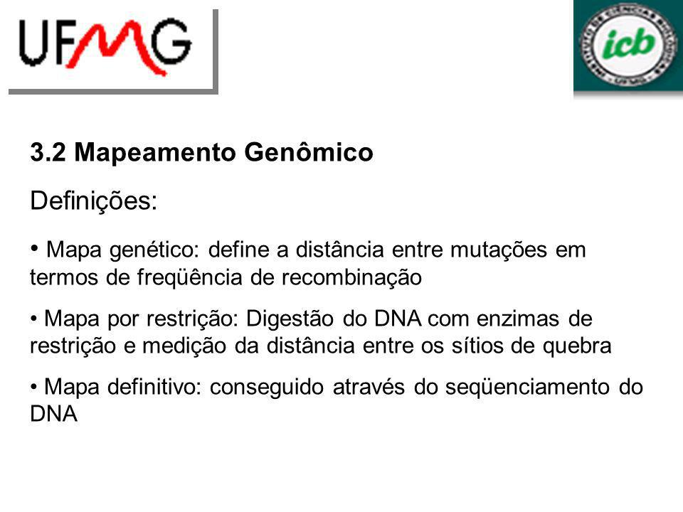 LGCM URLGA 3.2 Mapeamento Genômico Definições: