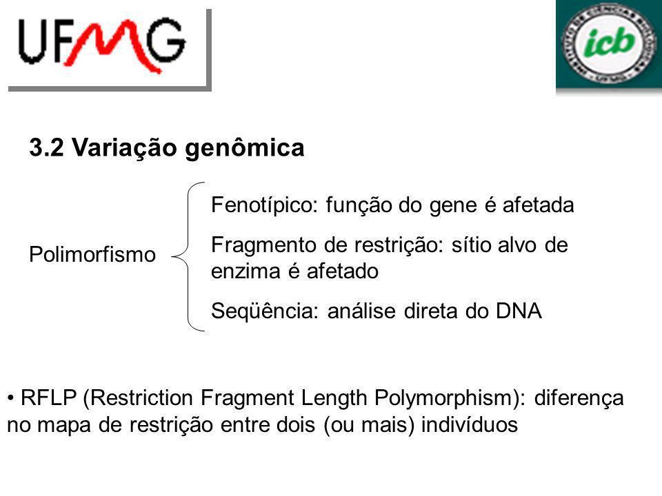 URLGA 3.2 Variação genômica Fenotípico: função do gene é afetada