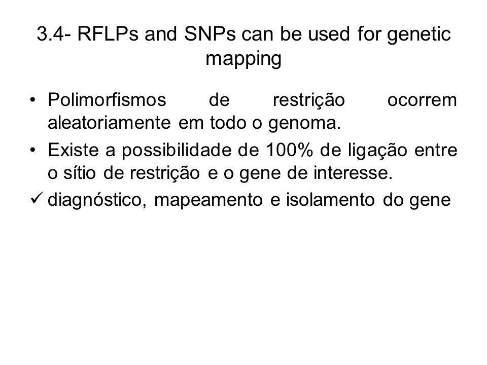 3.4- RFLPs and SNPs can be used for genetic mapping