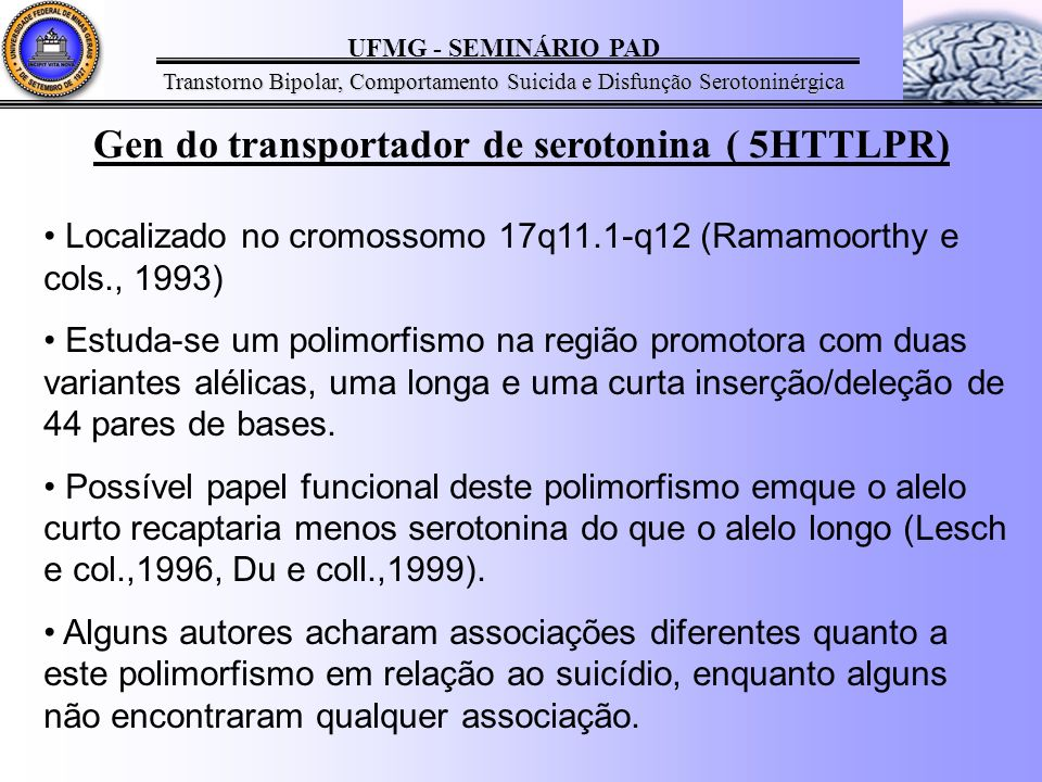 Gen do transportador de serotonina ( 5HTTLPR)