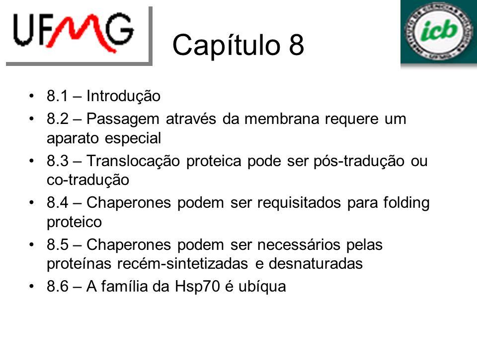 Capítulo 8 8.1 – Introdução. 8.2 – Passagem através da membrana requere um aparato especial.