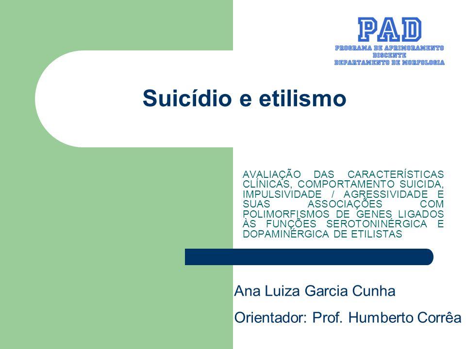 Suicídio e etilismo Ana Luiza Garcia Cunha