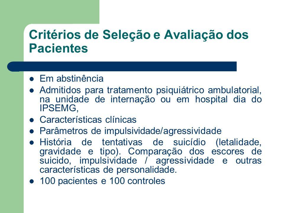 Critérios de Seleção e Avaliação dos Pacientes
