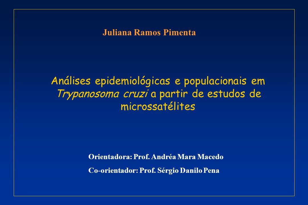 Juliana Ramos PimentaAnálises epidemiológicas e populacionais em Trypanosoma cruzi a partir de estudos de microssatélites.