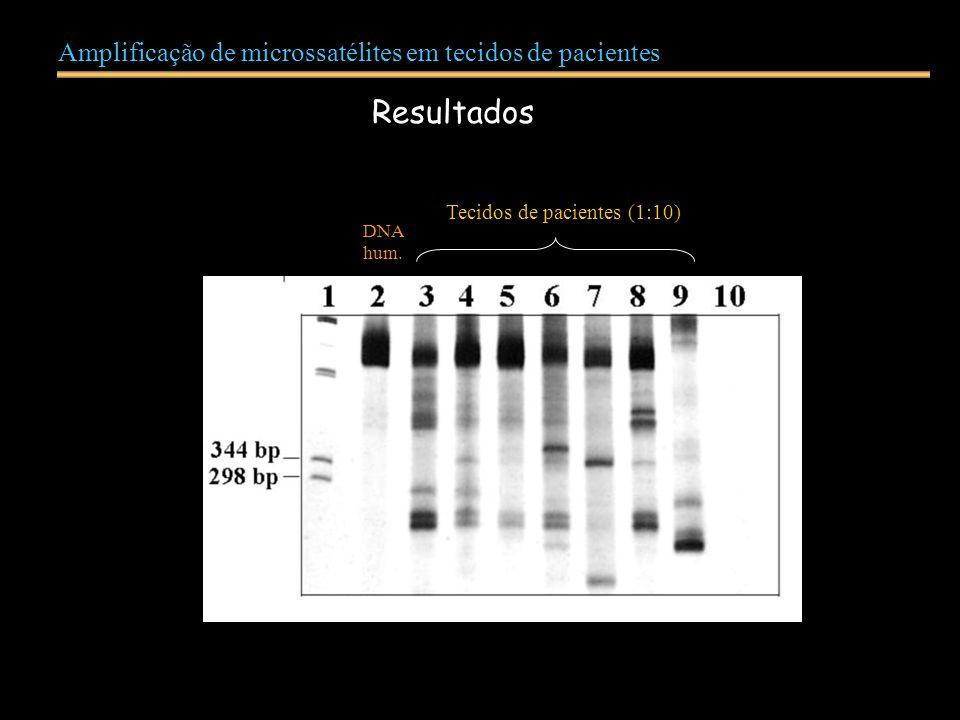 Tecidos de pacientes (1:10)