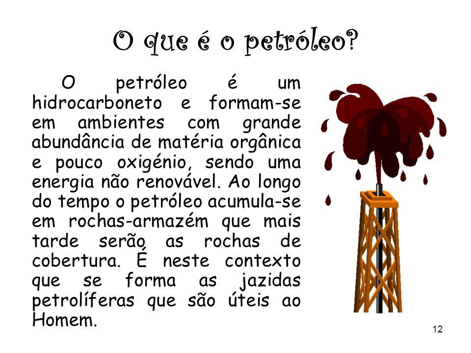 O que é o petróleo