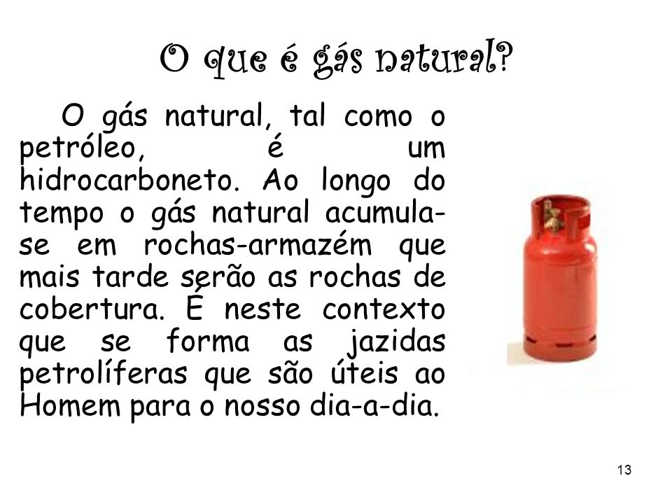 O que é gás natural