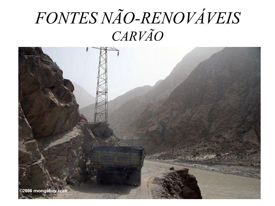 FONTES NÃO-RENOVÁVEIS CARVÃO