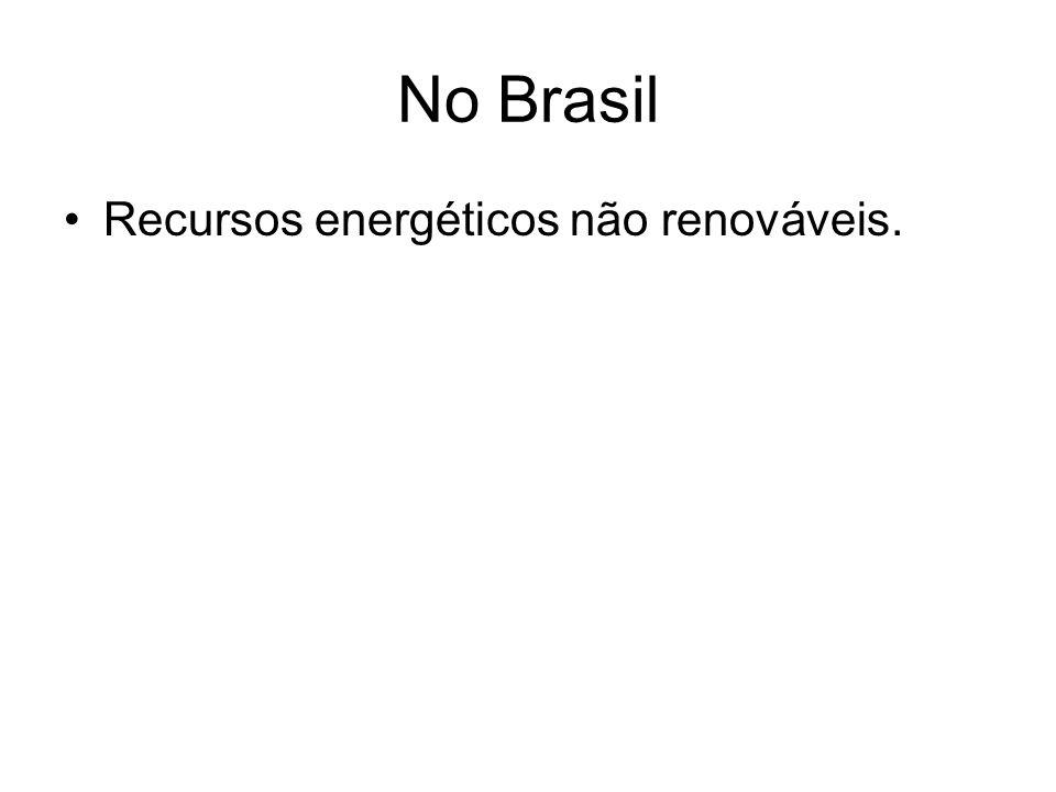 No Brasil Recursos energéticos não renováveis.