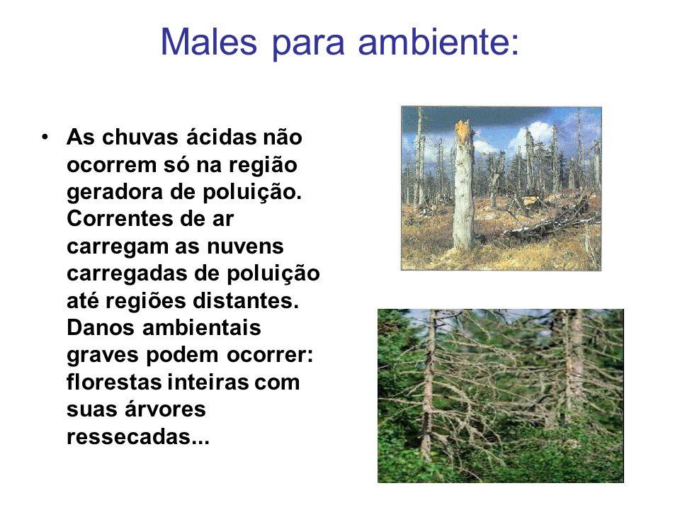 Males para ambiente: