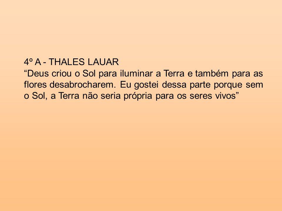 4º A - THALES LAUAR