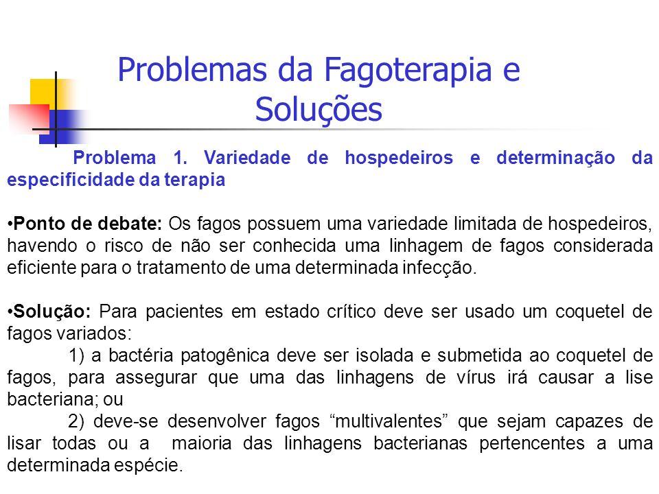Problemas da Fagoterapia e Soluções