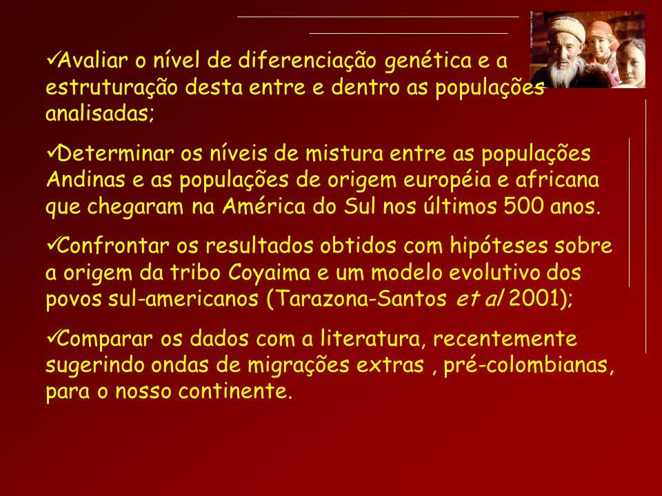 Avaliar o nível de diferenciação genética e a estruturação desta entre e dentro as populações analisadas;