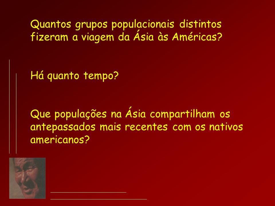 Quantos grupos populacionais distintos fizeram a viagem da Ásia às Américas