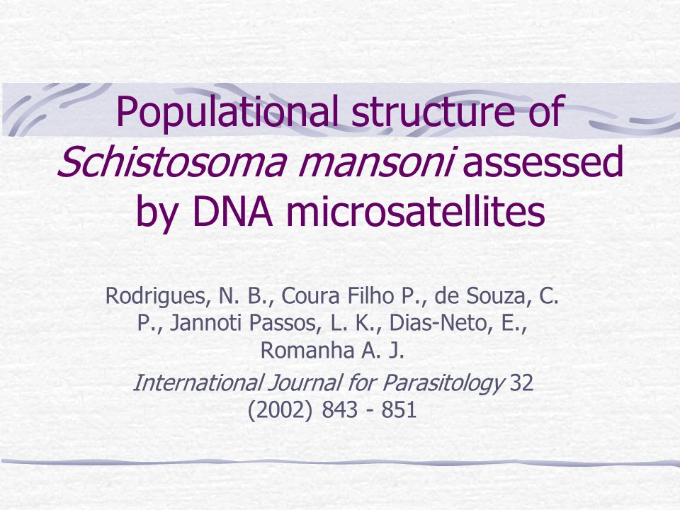 International Journal for Parasitology 32 (2002) 843 - 851
