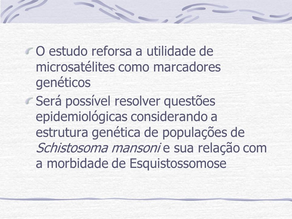 O estudo reforsa a utilidade de microsatélites como marcadores genéticos