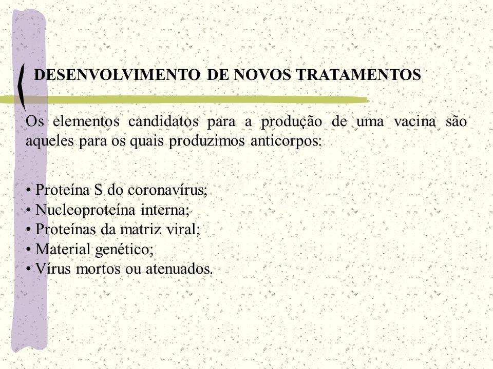 DESENVOLVIMENTO DE NOVOS TRATAMENTOS