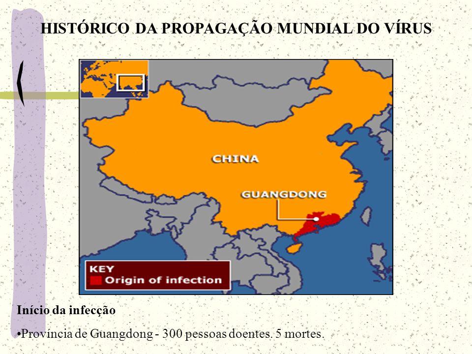 HISTÓRICO DA PROPAGAÇÃO MUNDIAL DO VÍRUS