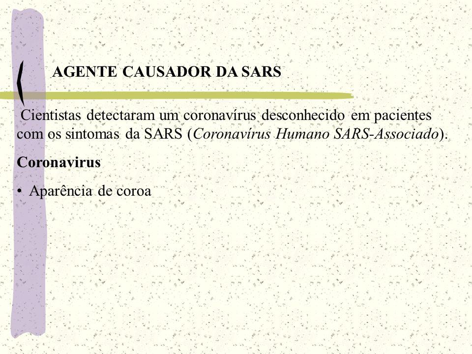 AGENTE CAUSADOR DA SARS