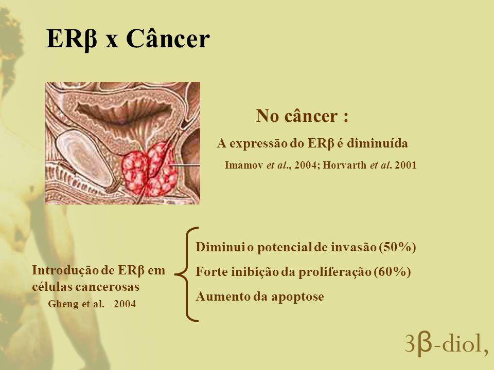 ERβ x Câncer No câncer : A expressão do ERβ é diminuída