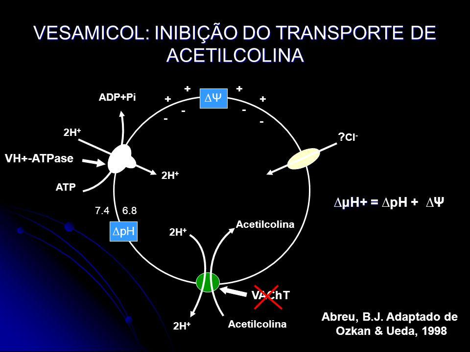 VESAMICOL: INIBIÇÃO DO TRANSPORTE DE ACETILCOLINA