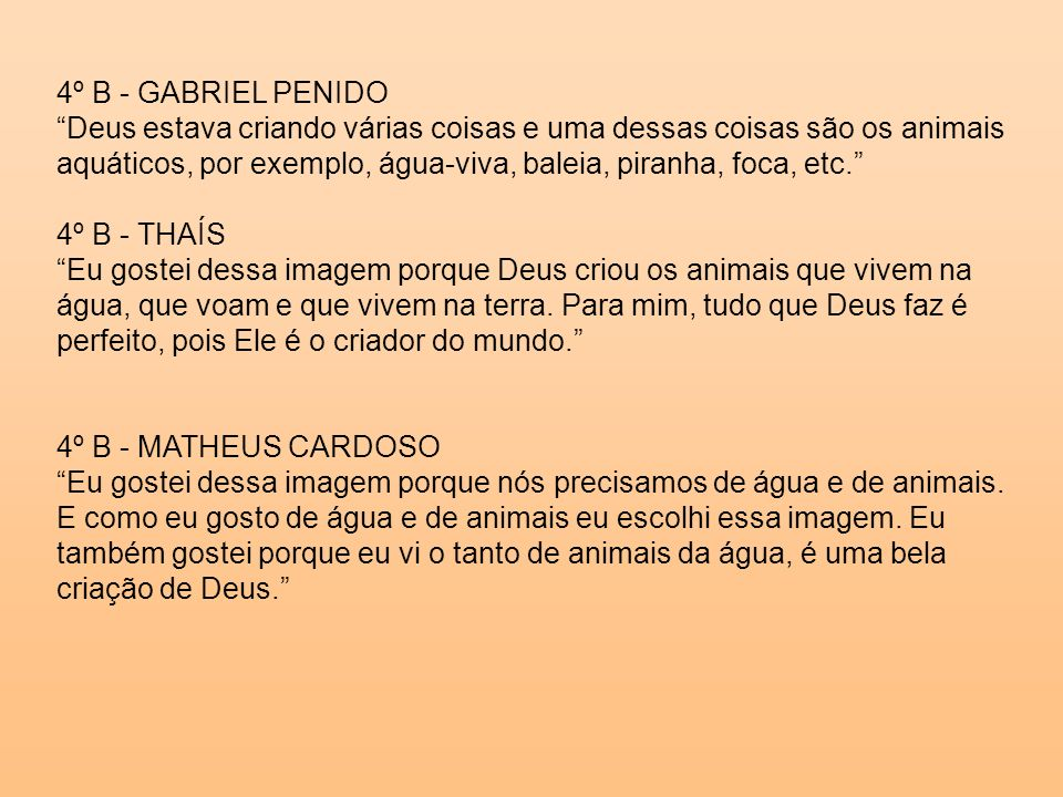 4º B - GABRIEL PENIDO
