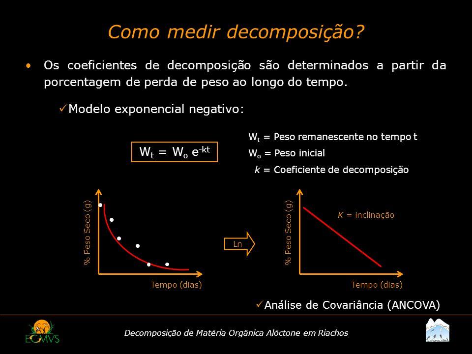 Como medir decomposição