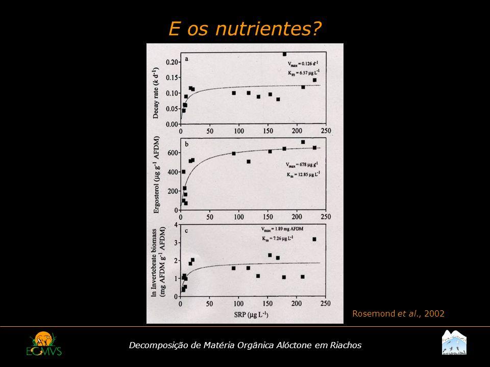Decomposição de Matéria Orgânica Alóctone em Riachos