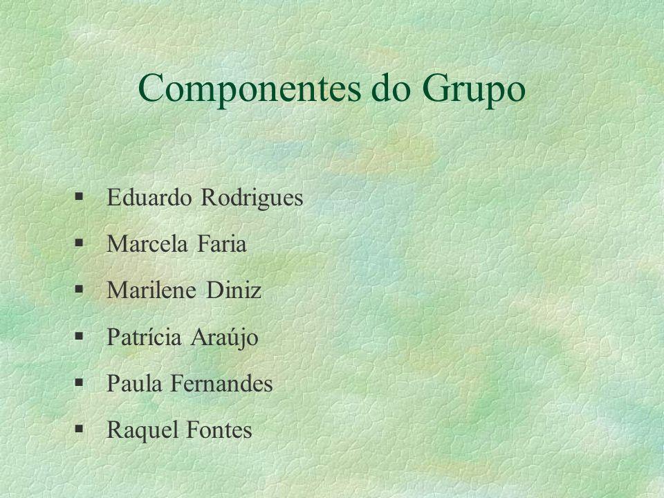 Componentes do Grupo Eduardo Rodrigues Marcela Faria Marilene Diniz