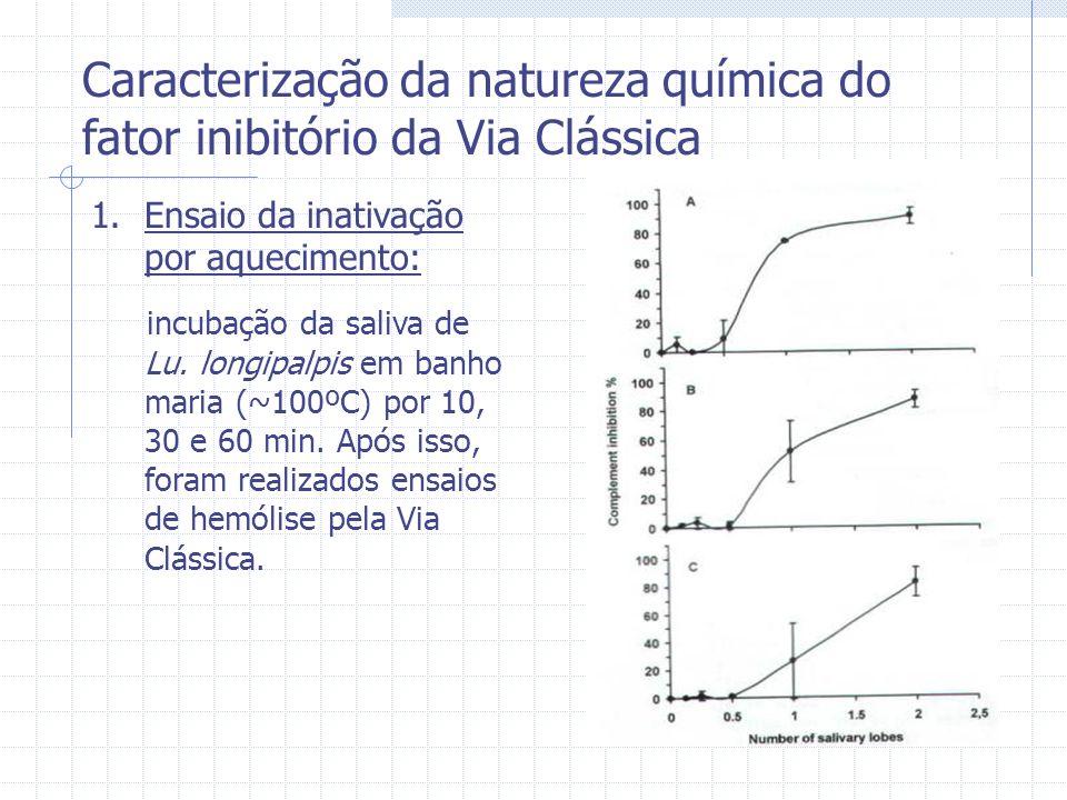 Caracterização da natureza química do fator inibitório da Via Clássica