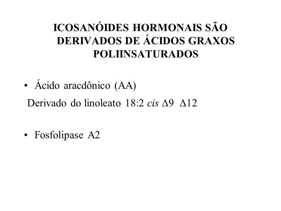 ICOSANÓIDES HORMONAIS SÃO DERIVADOS DE ÁCIDOS GRAXOS POLIINSATURADOS