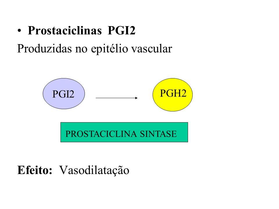 Produzidas no epitélio vascular