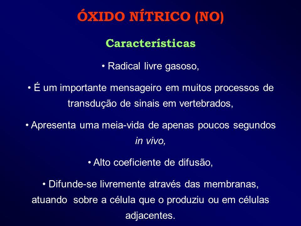 ÓXIDO NÍTRICO (NO) Características Radical livre gasoso,