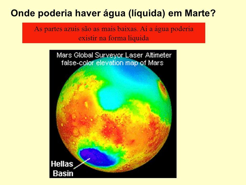 Onde poderia haver água (líquida) em Marte