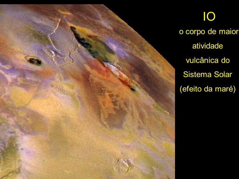 o corpo de maior atividade vulcânica do Sistema Solar (efeito da maré)
