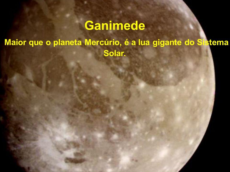 Maior que o planeta Mercúrio, é a lua gigante do Sistema Solar.
