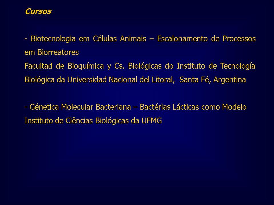 Cursos - Biotecnologia em Células Animais – Escalonamento de Processos em Biorreatores.