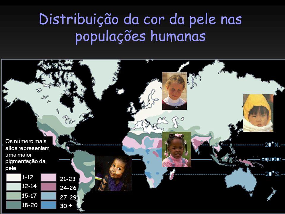 Distribuição da cor da pele nas populações humanas