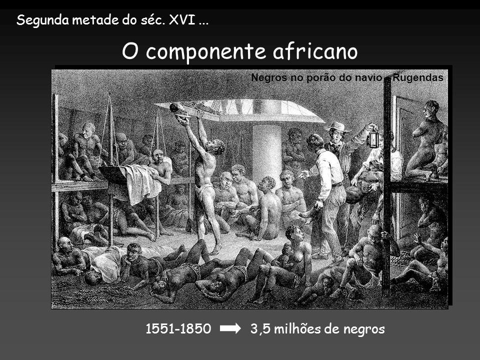 O componente africano Segunda metade do séc. XVI ...