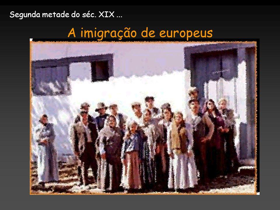 A imigração de europeus