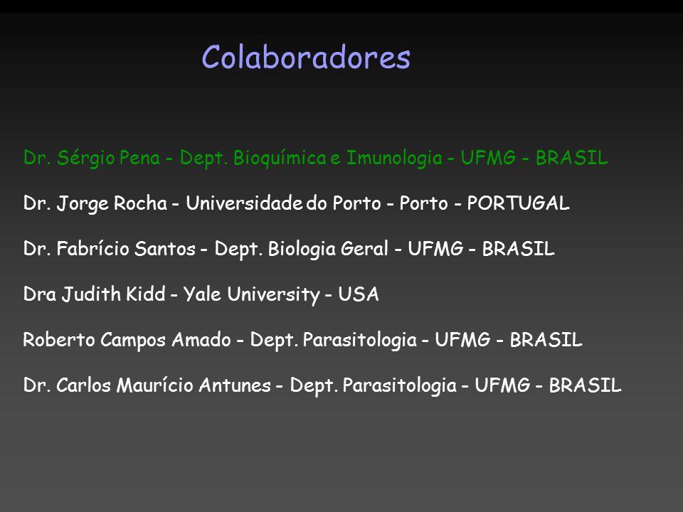 Colaboradores Dr. Sérgio Pena - Dept. Bioquímica e Imunologia - UFMG - BRASIL. Dr. Jorge Rocha - Universidade do Porto - Porto - PORTUGAL.