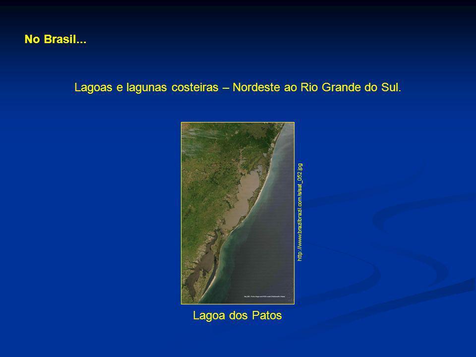 Lagoas e lagunas costeiras – Nordeste ao Rio Grande do Sul.