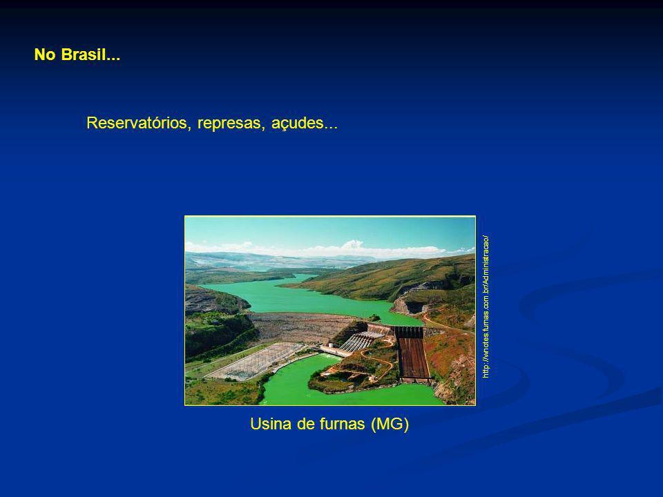 Reservatórios, represas, açudes...