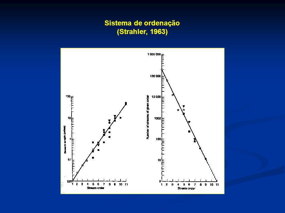 Sistema de ordenação (Strahler, 1963)