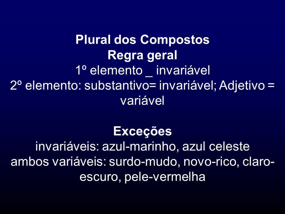 Plural dos Compostos Regra geral Exceções