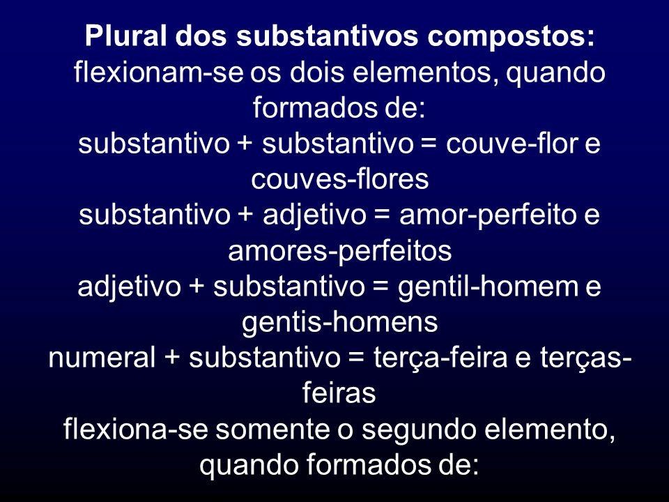 Plural dos substantivos compostos:
