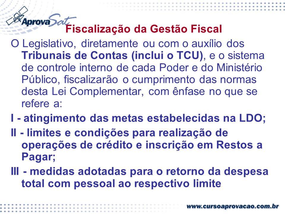Fiscalização da Gestão Fiscal
