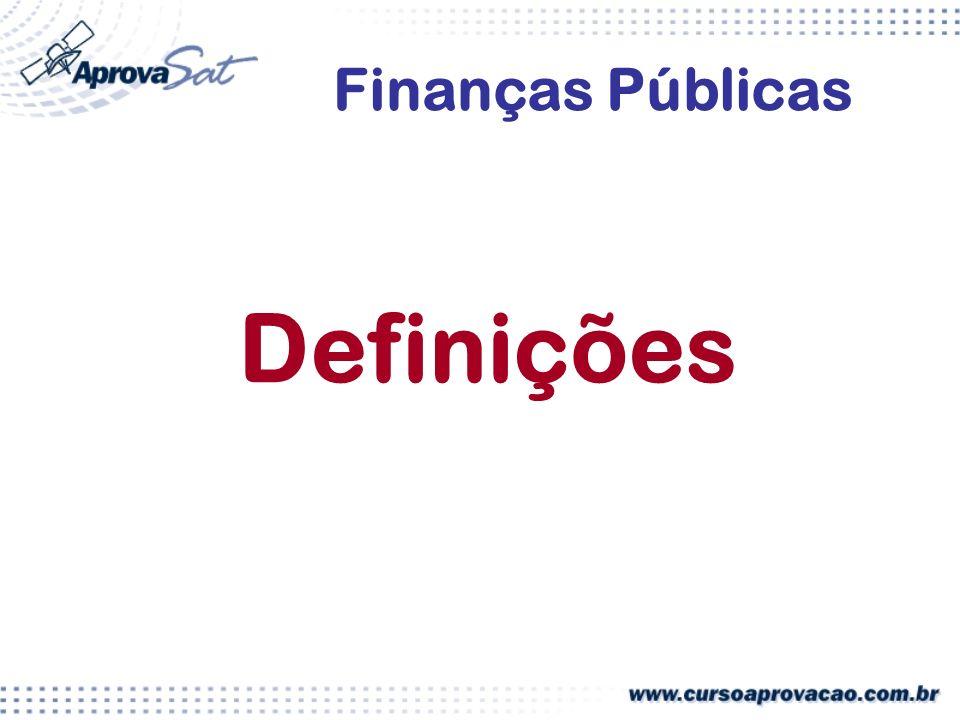 Finanças Públicas Definições