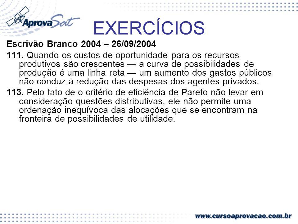 EXERCÍCIOS Escrivão Branco 2004 – 26/09/2004