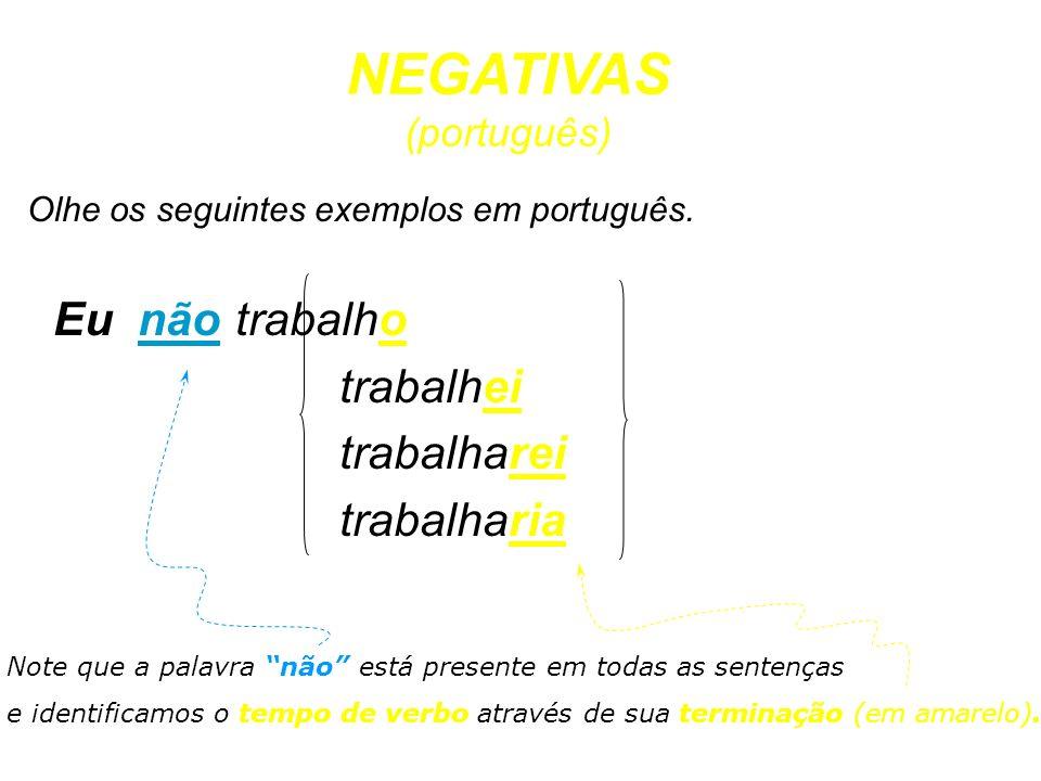NEGATIVAS (português)
